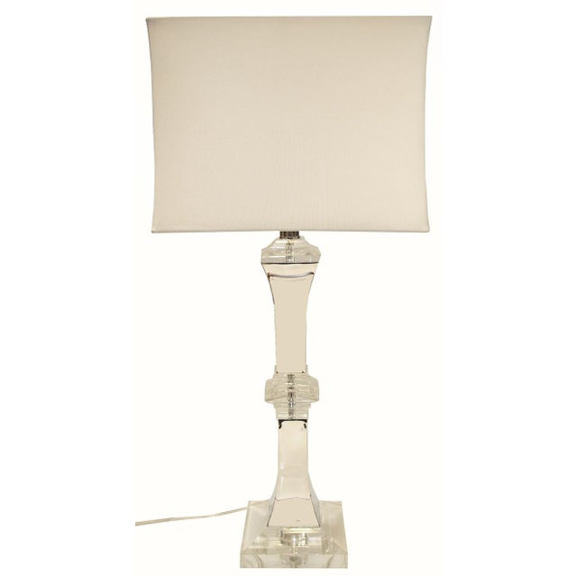Image of XL Crystal and Chrome Lamp