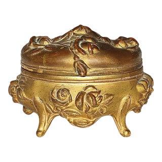 Art Nouveau Hinged Ring Box