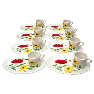 Italian Hand-Painted Snack Set - Set of 16