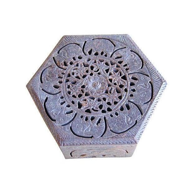 Carved Soapstone Box w/Elephant Motif - Image 5 of 5