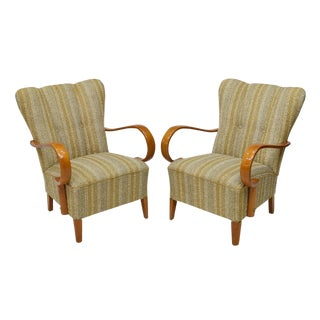 1940's Paolo Buffa Italian Arm Chairs - A Pair