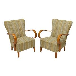 1940's Paolo Buffa Italian Arm Chairs - A Pair