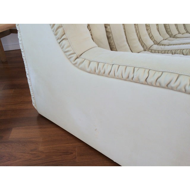Image of DeSede Non-Stop Sectional in Ivory Suede