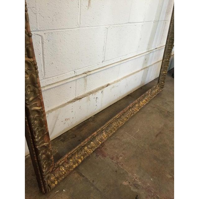 Image of Over-Sized Large Vintage Gold Tone Carved Wood & Gesso Frame