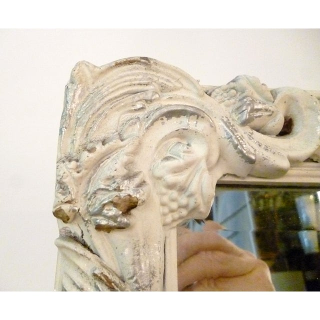 Shabby Chic Hand-Carved Mirror - Image 8 of 9