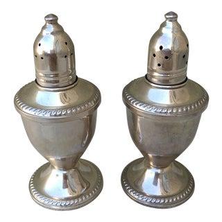 Sterling Silver Salt & Pepper Shakers - Pair