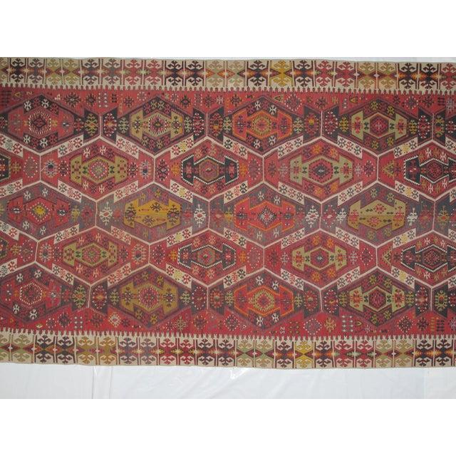 "Image of Antique Turkish Kilim - 13'4"" X 6'1"""