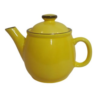 Yellow Japanese Tea Pot