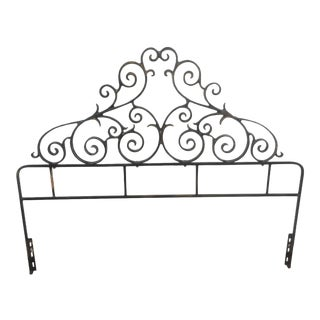 Hollywood Regency Style Metal Headboard