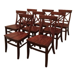Aaron Wood Seat Chairs - Set of 8