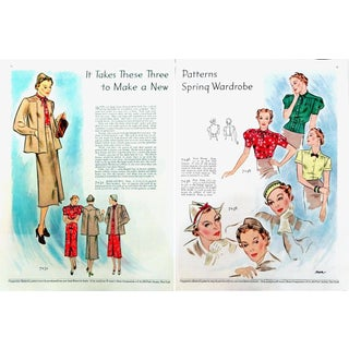 1933 Butterick Double-Sided Two-Page Fashion Ad