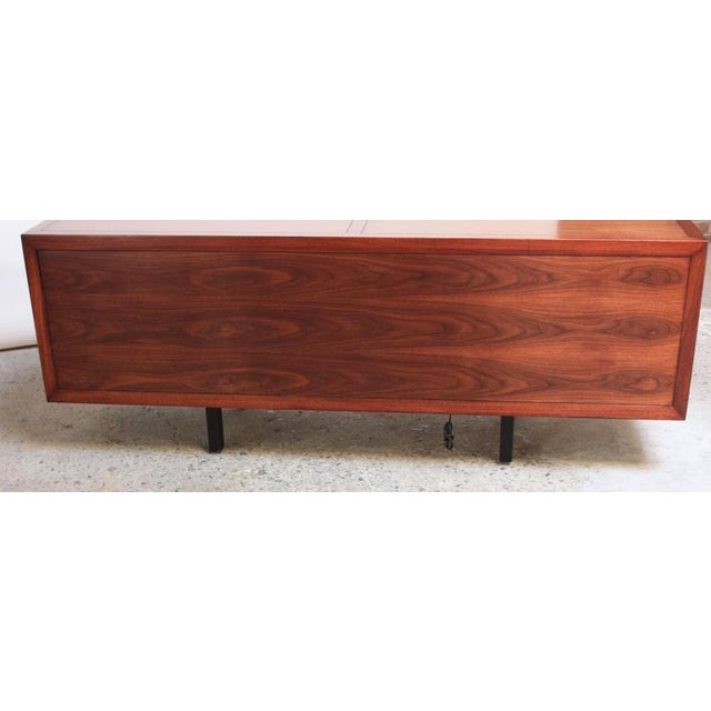 1970s Walnut, Bamboo and Cherry Credenza after Harvey Probber - Image 6 of 10