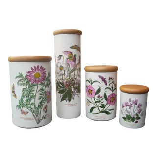 Vintage Floral Portmeirion Canisters - Set of 4