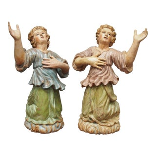 Pair of Continental Polychrome Figures