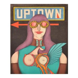 1969 Uptown Pop Lithograph Poster