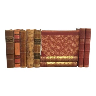 Designer Leather Bound Books - Set of 10