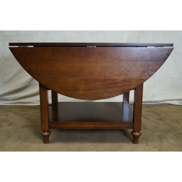 Pottery barn shayne drop leaf mahogany kitchen table chairish - Shayne kitchen table ...