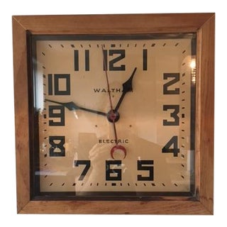 Antique Industrial Wood Clock