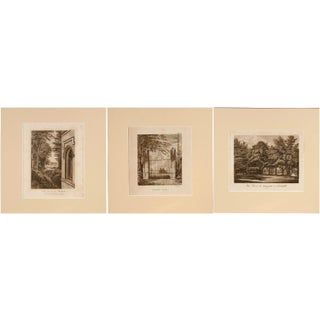 Strawberry Hill Engraving - Set of 3