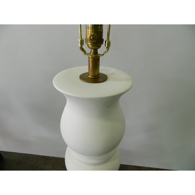 Image of Double Ballister White Porcelain Table Lamp