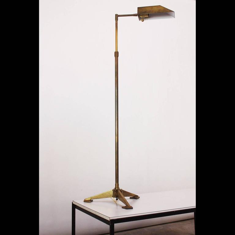 image of chapman brass tripod floor lamp