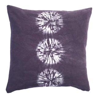 Aubergine Nui Shibori Circle Pillow Cover