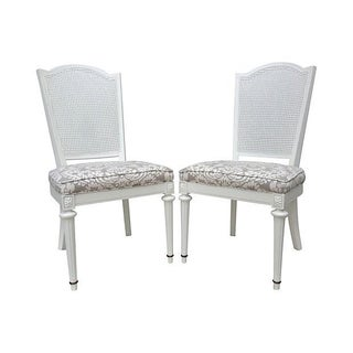 Neoclassical Cane-Back Side Chairs - Pair