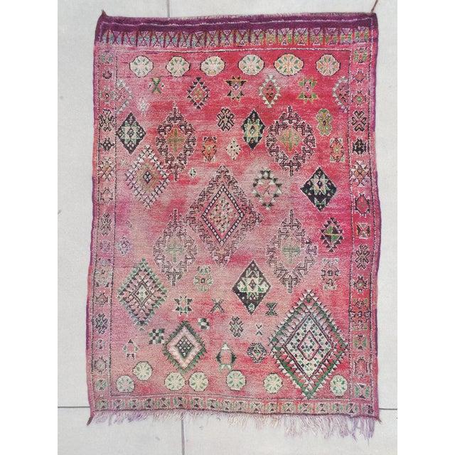 Vintage Moroccan Boujaad Rug 9'4 x 6'3 - Image 2 of 6