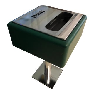 1960's Knoll Green Chrome Telephone Side Table