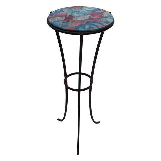 Round Glass Top Metal Accent Table Chairish