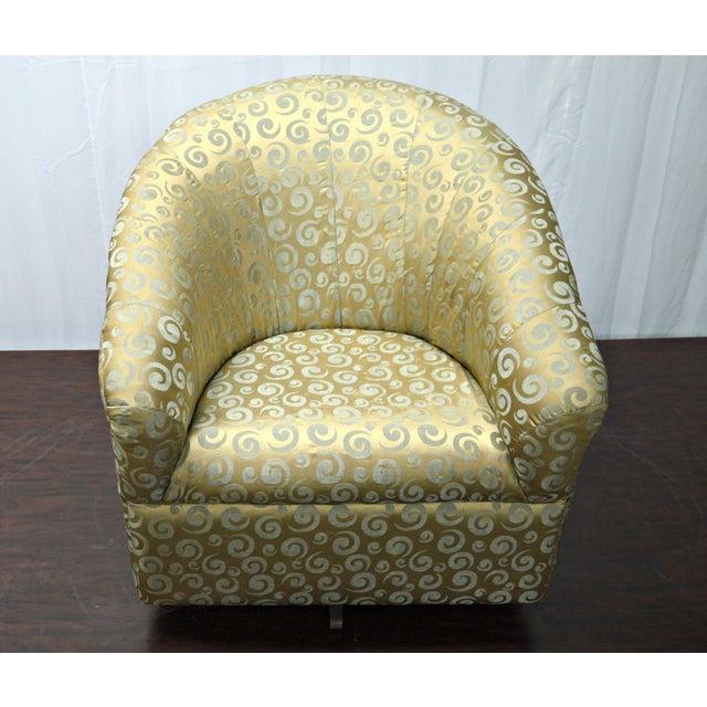 Gold Satin Swivel Rocking Chair Chairish