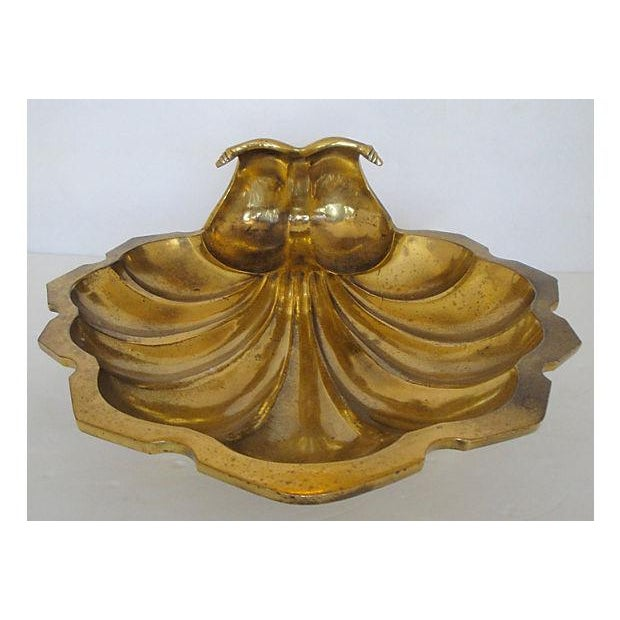 Leaf Shaped Solid Brass Plate - Image 2 of 8