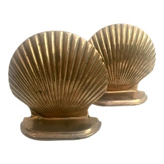 Brass Shell Bookends - Pair