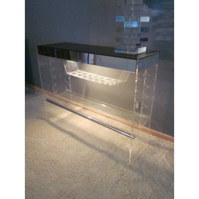 Image of Lucite Hollywood Regency Lighted Bar Table
