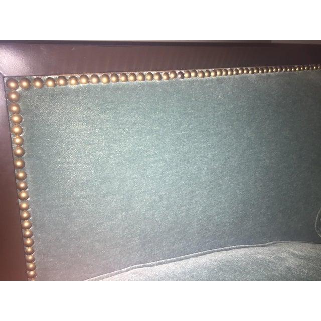 Ferguson & Copeland Belgium Mohair Peacock Green Sofa - Image 3 of 4