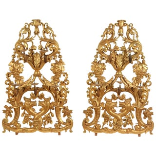 Pair of Gilt Venetian Wall Sconces