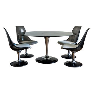Chromcraft Tulip Dining Set, Saarinen Inspired