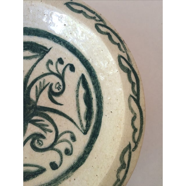Vintage Footed Ceramic Bowl - Image 8 of 11