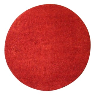 "Round Red Long Pile Kasthall Rug - 8'6"" x 9'8"""