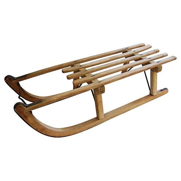 Antique Early 1900s Child's Snow Sled - Image 4 of 7