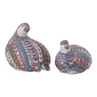 Ceramic Partridges - Pair