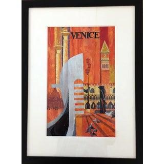 """Howard Koslow """"Venice"""" Acrylic on Board Painting"""