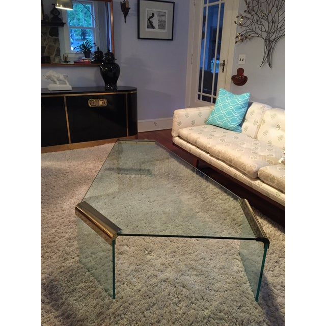 Leon Rosen Pace Collection Glass Coffee Table - Image 8 of 8