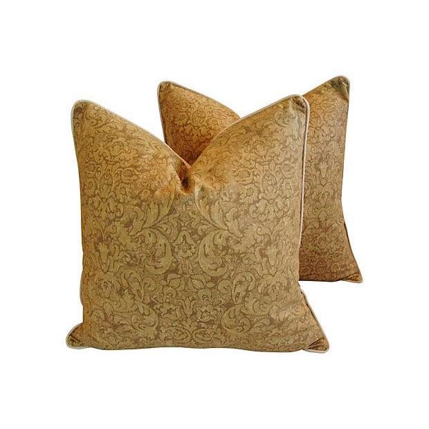 Ralph Lauren Evanston Gold Pillows - A Pair - Image 1 of 7