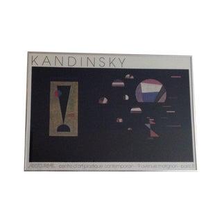 Vintage 1984 Kandinsky Poster Printed in France