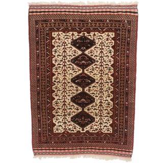 RugsinDallas Wool & Silk Persian Joshan Rug - 4′ × 5′8″