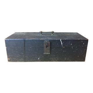 Wooden Toolbox With Brass Handle