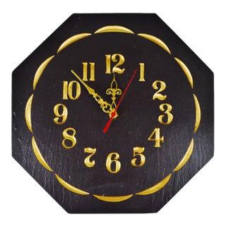 Vintage Capozzolo Slate Company Octagonal Slate Wall Clock
