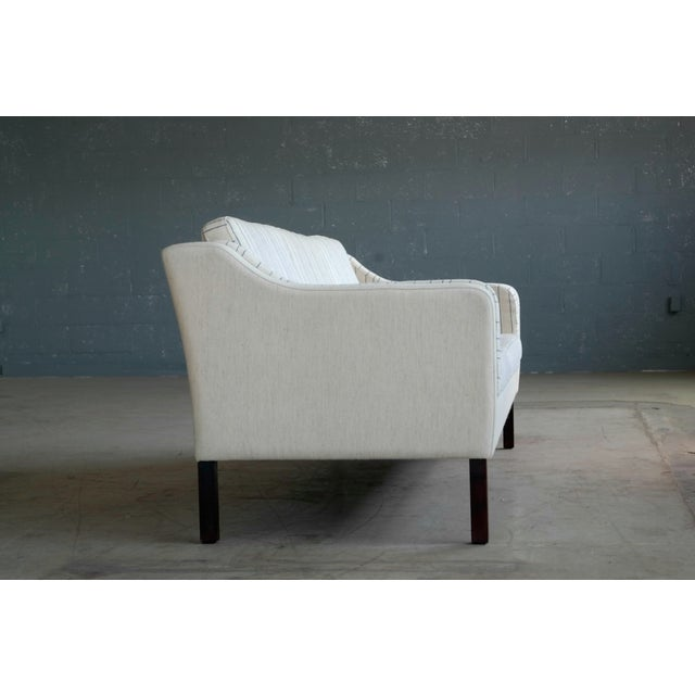 Børge Mogensen Style Three-Seat Sofa Model 2423 by Mogens Hansen - Image 6 of 9