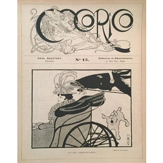 Vintage French Mucha Lithographic Print, C.1895